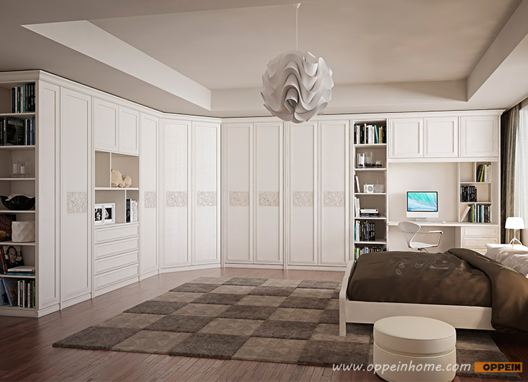 Guangzhou Bedroom Furniture White Design Modern Bedroom Wardrobes