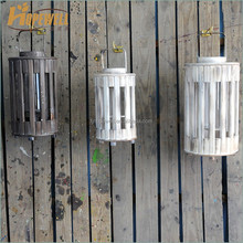 Manufacture rustic white bamboo antique style lantern