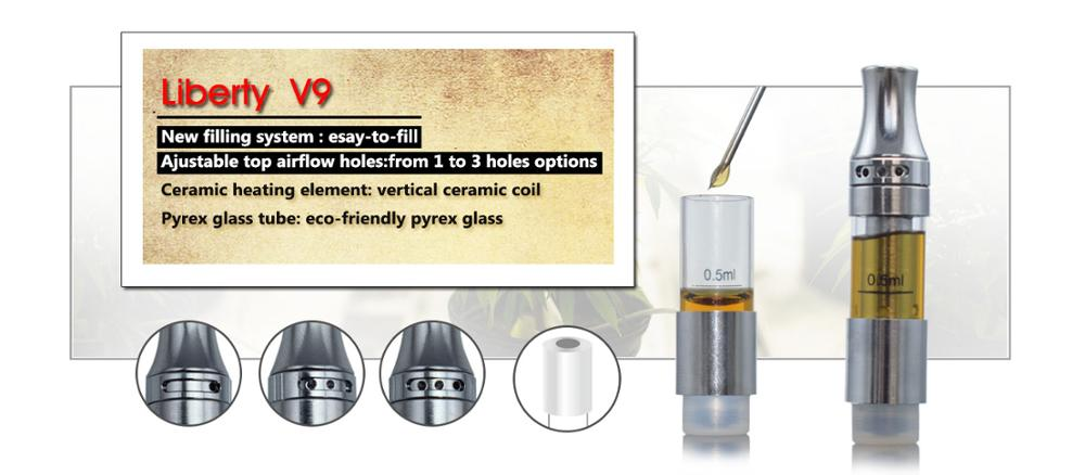 Wholesale Top Filling Adjustable Airflow Ceramic Cbd Oil Cartridge Liberty  V9 Cbd Vape Pen Cbd Glass Tank - Buy Cbd Oil Cartridge,Cbd Tank,Cbd