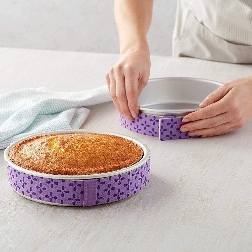 Hot Sale! Hongxin 1PC Cake Pan Strips Protector Bake Even Strip Belt Bake Even Bake Moist Level Cakes Baking Tool Bakeware Christmas Festival Party Supplies
