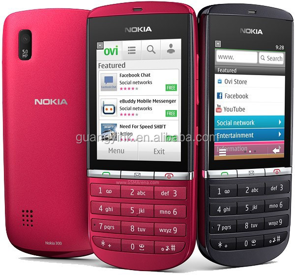 Nokia Asha 300 Smartphones (New Mobile Phones, 14-Day Mobile Phones & Used Mobile Phones)