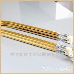 gold twin tube shortwave ir lamp for car body works