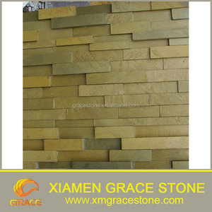Cheap Natural Yellow Slate Large Slate Tiles for Roof landscaping