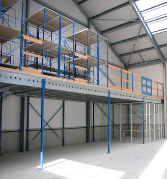 Customize Steel Racking System Attic Racks Heavy Duty Warehouse Mezzanine Foor