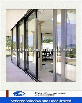 Commerciale Tripla Traccia Telaio In Alluminio Tre Pannello Porta ...