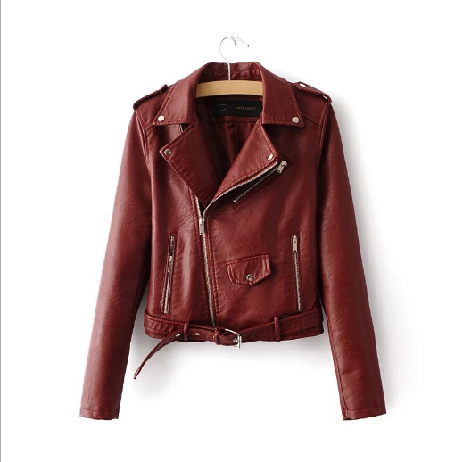 2019 hot sell spring autumn sexy leather jacket woman luxury women leather jacket