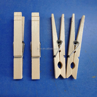 Large 84mm birch Wood Clothes Pegs