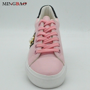 Wholesale Popular Customized Logo Ladies Casual Shoes Women pu Shoe