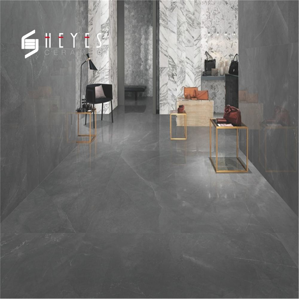 Marble Texture Matte Look Ceramic Grey