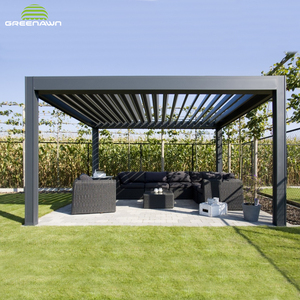 Motorized waterproof aluminum louvered roof pergola kits