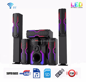 Surround Sound 5.1 Subwoofer Active Home Theater Speaker System with tower Wireless Function
