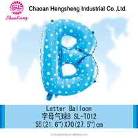 Exporting party decoration cheap letter foil balloons
