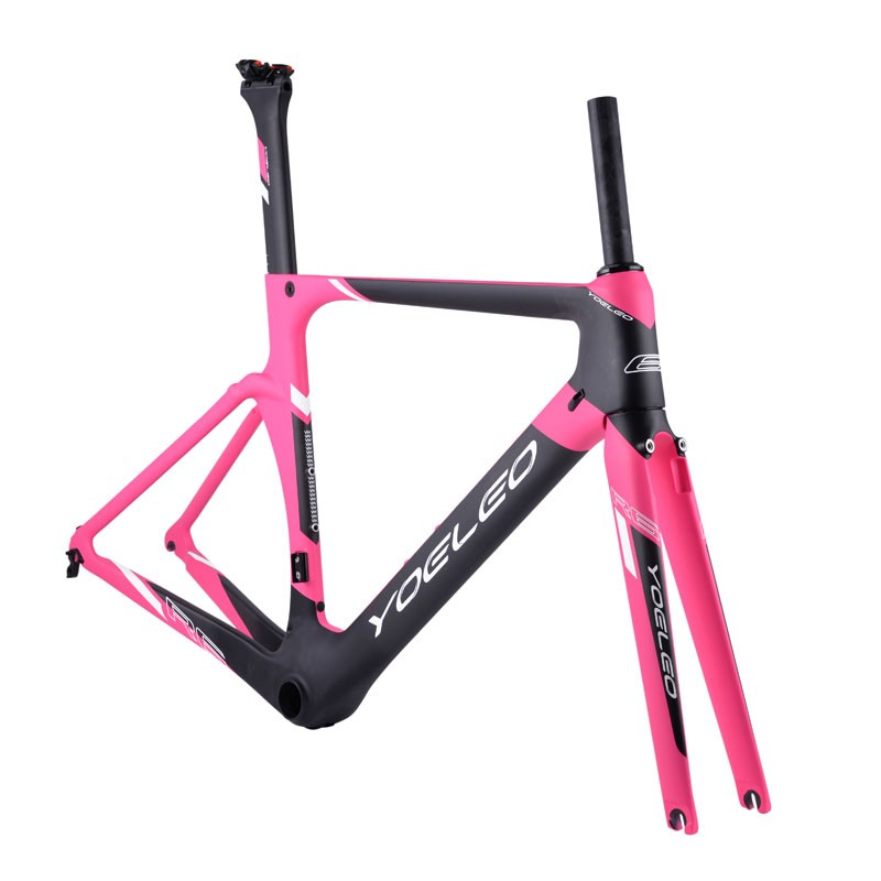 2017 Yoeleo R6 Carbon Road Bike Frame With Sizes:44cm,49cm,52cm,54cm,56cm,59cm, Ghost/white/blue/green/red/yellow/pink