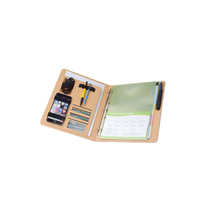 Soft cover leather diary ring bound file folder
