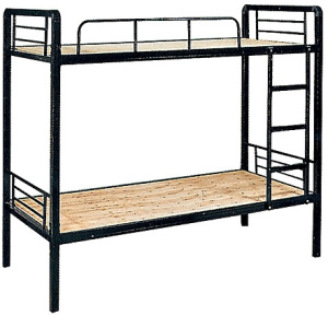 Easy Assembly Durable Detachable Steel Two Levels Prison Bunk Bed