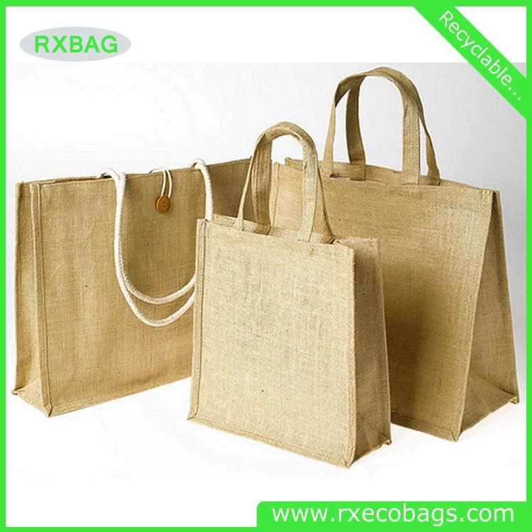Wholesale Jute Shopping Bag Organic Fabric Burlap Tote Bag Cheap ...