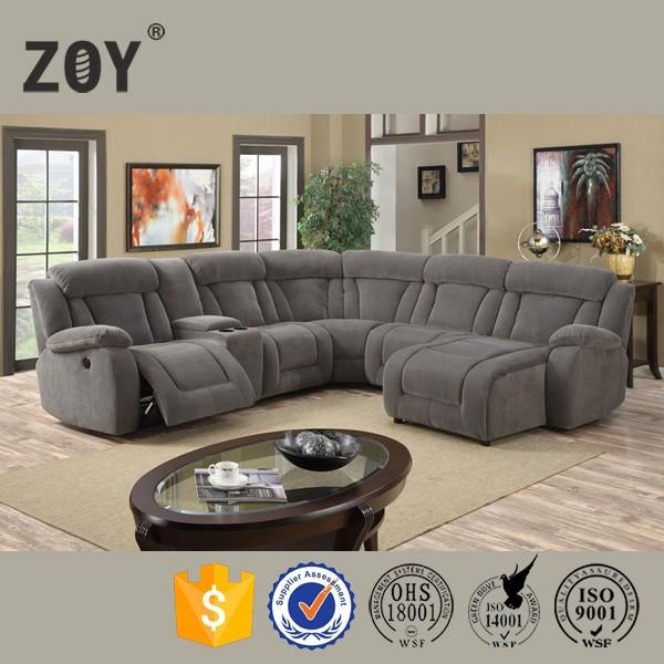 Moderno tessuto divano ad angolo tondo zoy funetional molto comodo divano componibile 5 posti - Divano angolo tondo ...