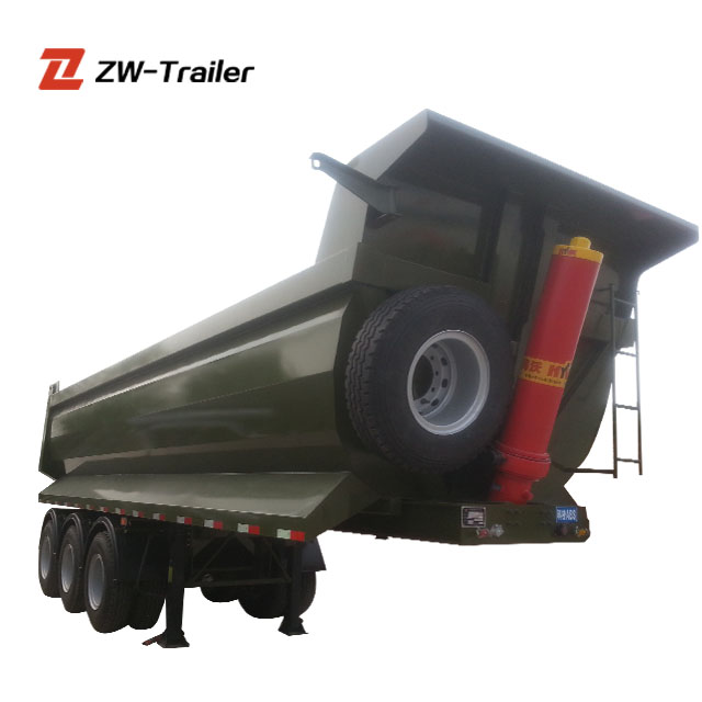 Widely Used Coal Transport Semi Trailer Tipping Trailer