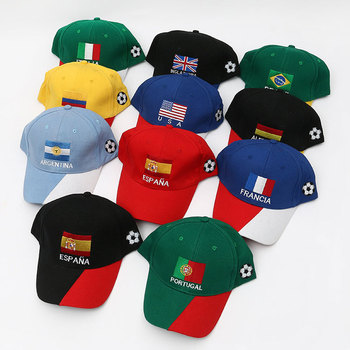 High Quality Wholesale Custom 2018 Russia World Cup Cap And Hats Flag  Football Baseball Caps d92da1acb3f