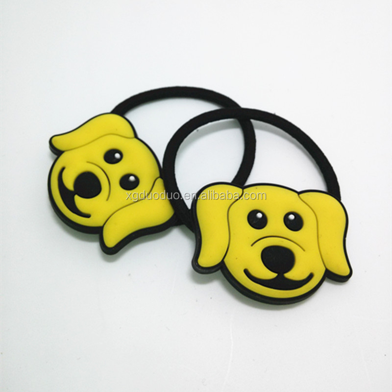 2015 best Animal Shaped Hair Accessories/ Custom Rubber Hair Elastic For Kids