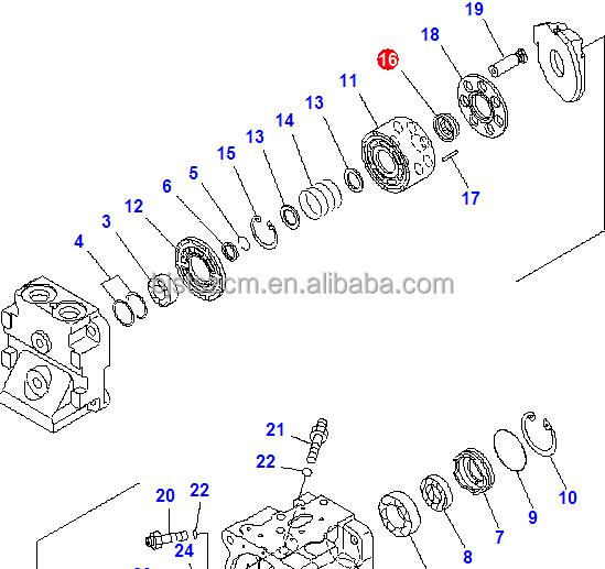 Wa470-6 Retainer Guide 708-1s-13370 708-1s-13371