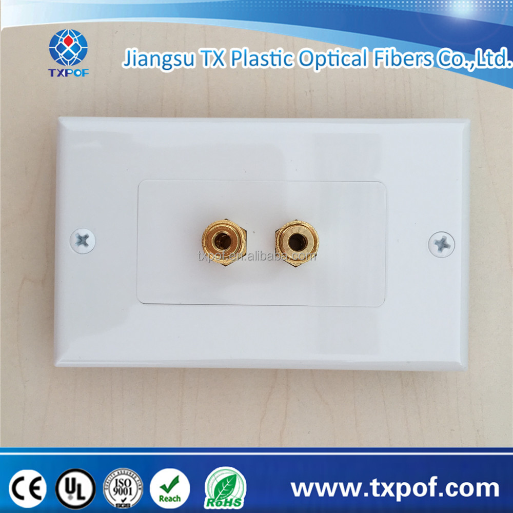 Wholesales Price Wall Face Plate Speaker Modular 2 Binding Post Banana Sockets Conponent Home Theater