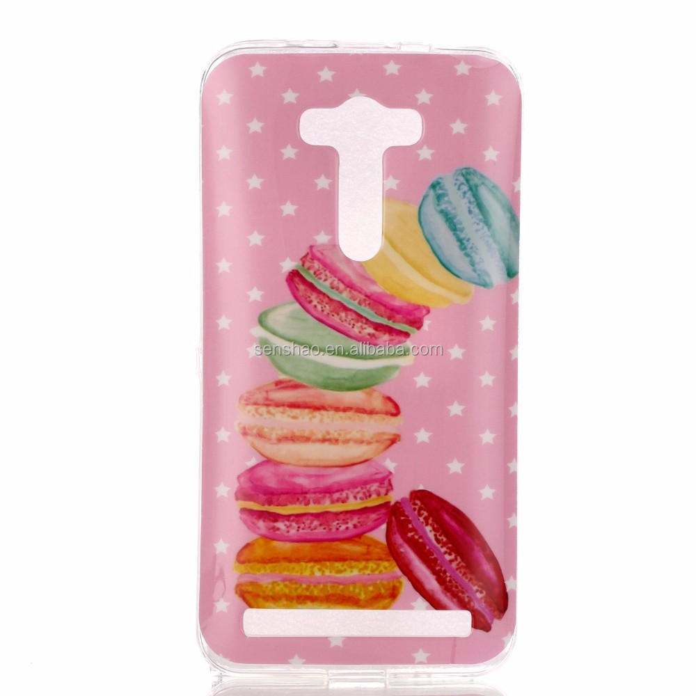 2 in 1 New fashion soft TPU super thin Phone Cover Case For zenfone selfie ZD 551 KL case with color printing OEM/ODM