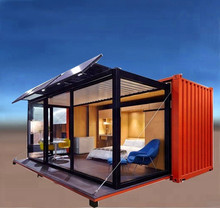 Chinesische Billig Strand Tiny Living Stahl Container Haus