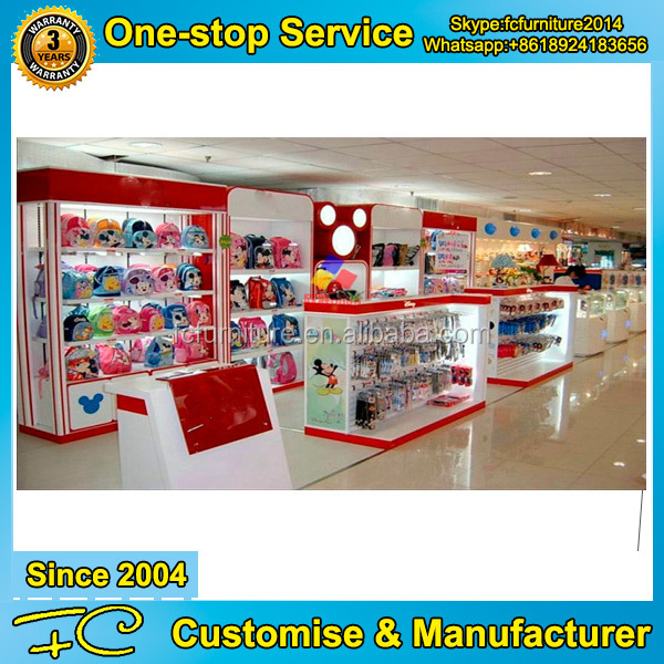 Customized high quality MDF wood display racks for toys shop