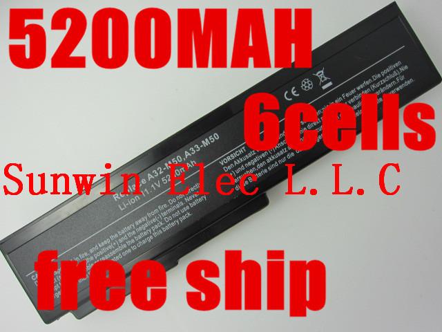 5200 мАч аккумулятор для ноутбука Asus N61 N61J N61D N61V N61VG N61JA N61JV N53 A32 M50 M50s N53S N53SV A32-M50 A32-N61 A32-X64 A33-M50