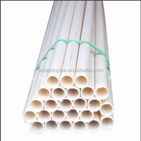 DN20 white color PVC electric conduct pipe sizes
