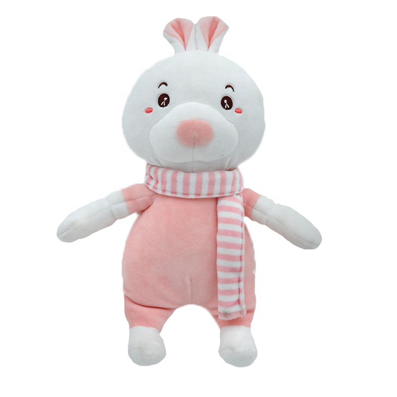 OEM Stuffed plush mermaid doll Vivid Soft plush snowballs Toy <strong>rabbit</strong> with scarf