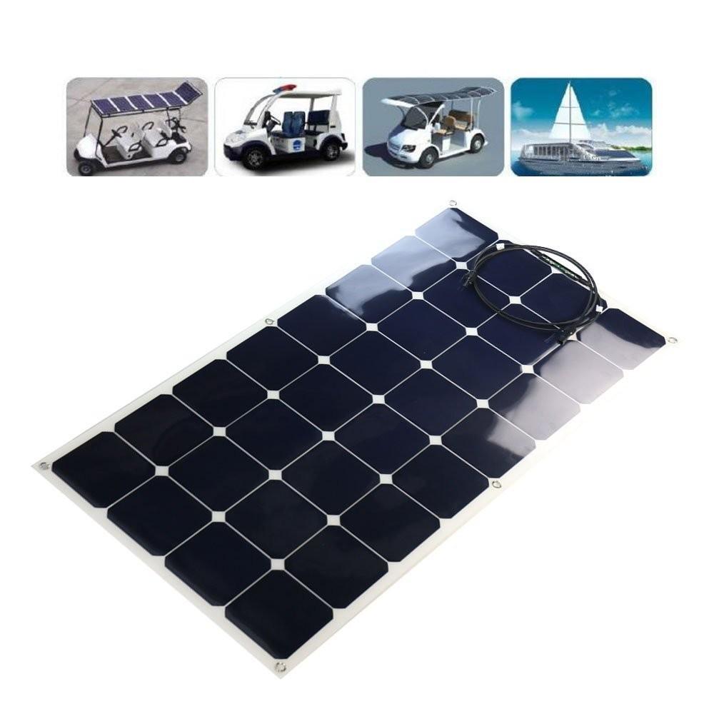 C60 Sunpower Solar Cell Semi Flexible Solar Panel 100w
