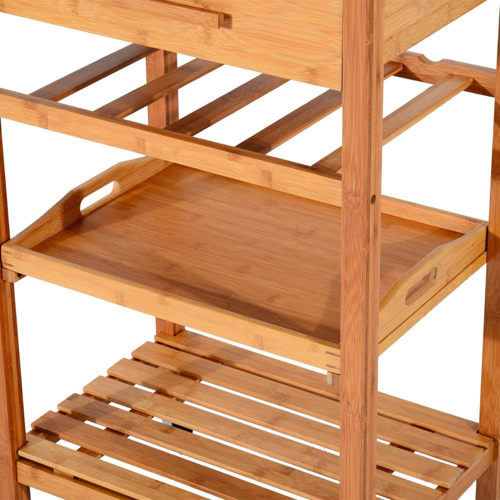 large wooden kitchen trolley 7