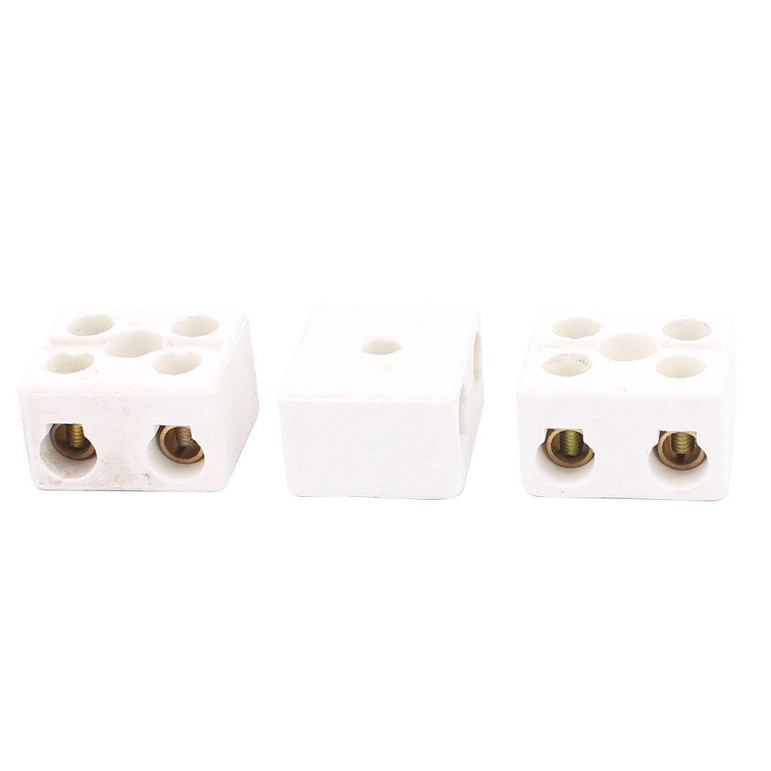 Uxcell a16030100ux0373 Cable Connector 2 Position 2 Row Ceramic Terminal Block, 220V, 30 Amp, 3 Piece