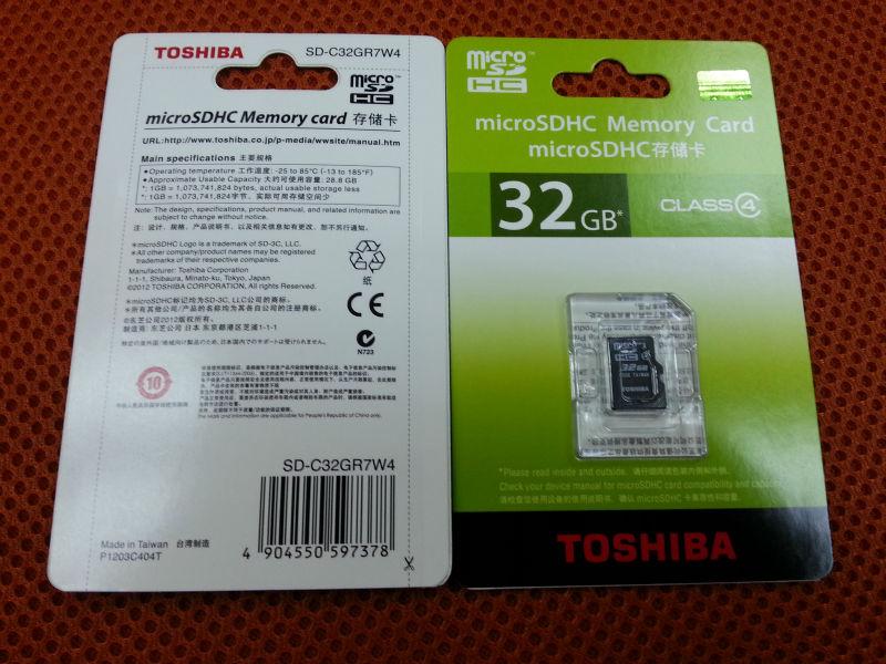 Toshiba 32gb Micro Sd / Tf Memory Card Class 4 - Buy Toshiba,Micro Sd 32gb  Card,Sd-c32gr7w4 Product on Alibaba com