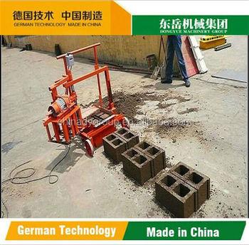 dongyue brand qt40 3c concrete block making machine manual