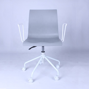 Modern style Swivel PP Plastic office chair task chair with armrest