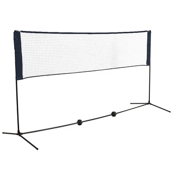 Wholesale price of the factory 5M folding adjustable height portable tennis and badminton net stand