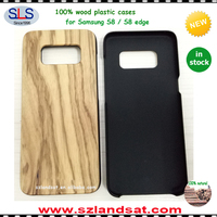2017 trending products real solid Wooden phone case for galaxy s8&s8 plus