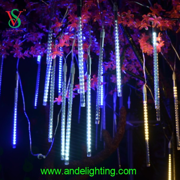 Starfall Tube Light Led Digital Happy Hanging Rainbow Meteor Tube Light