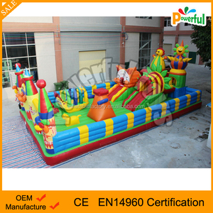 giant outdoor inflatable city/cheap inflatable fun city/ happy bouncy playground