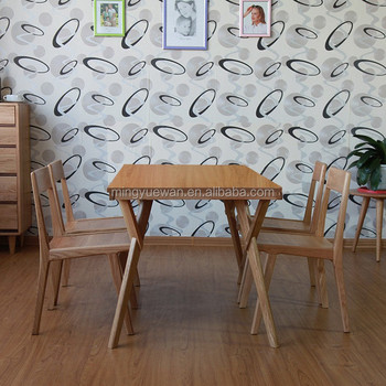 Nordic Style Folding Dining Table Wooden Philippine Set