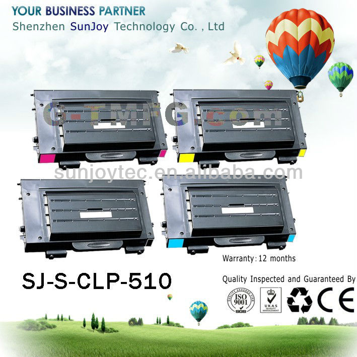 CLP-510D7K high quality products color toner cartridge for Samsung CLP-510
