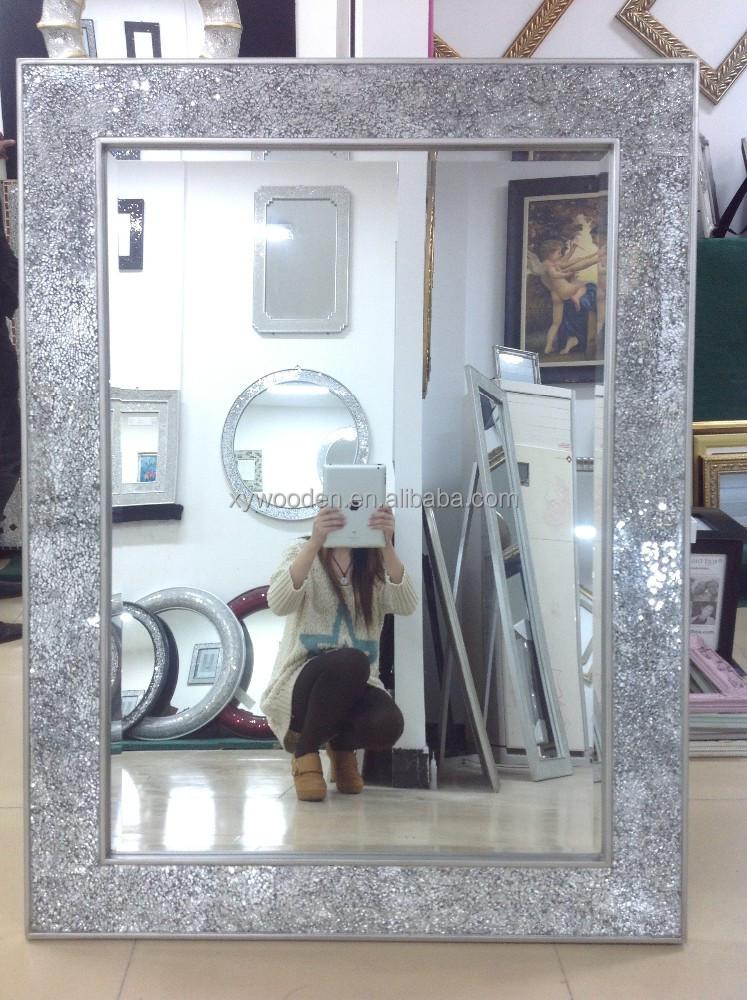 Ornement en bois sculpt cadre de miroir salle de bains for Miroir cadre bois salle de bain