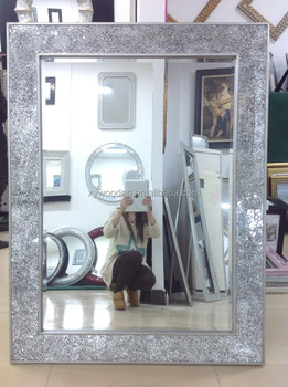 Ornate Wooden Carved Mirror Frame Bathroom Mirror Stand For Floor Mirror