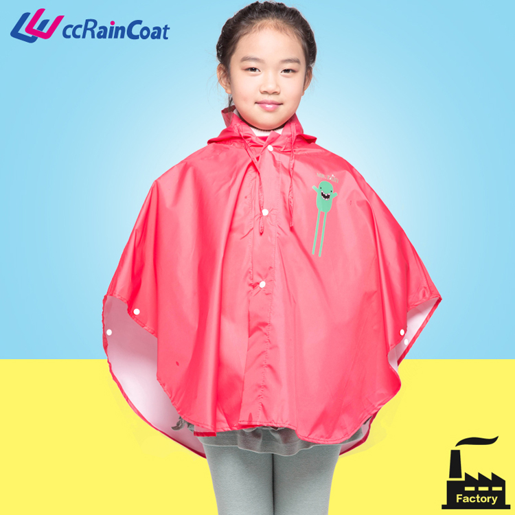 High-grade quality kids rain poncho children rainwear