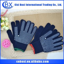 2014 China wholesale cheap high quality multi-color navy blue knitted gloves