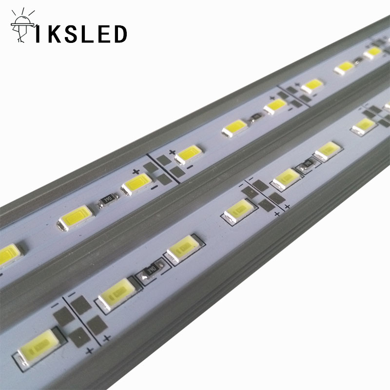 1m 5730 LED Bar 18W 12V 35lumens/led Hard Rigid Strip Bar Light 72leds +UV Aluminium +Cover