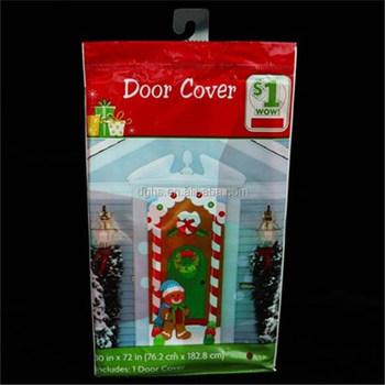 Christmas Pe Plastic Door Cover Family Door Sticker For Decoration - Buy  Fridge Door Cover Sticker,Decorative Refrigerator Door Stickers,Decorative